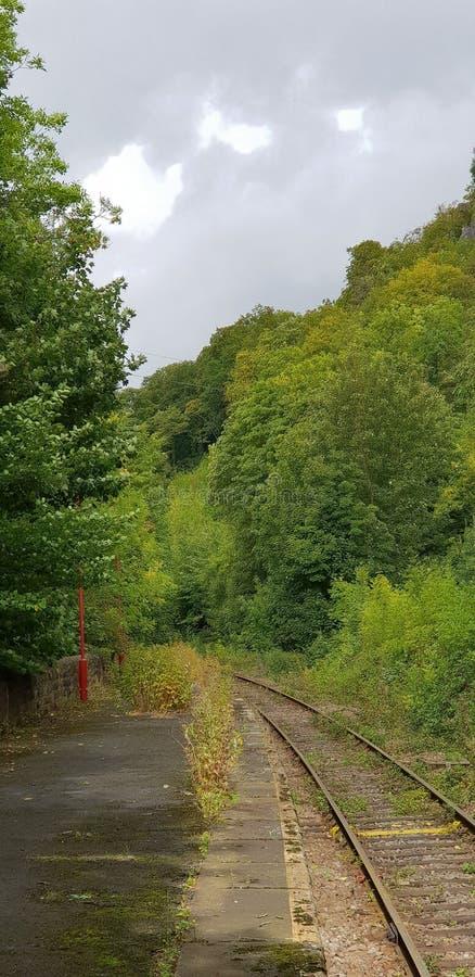 Μη χρησιμοποιούμενος μόλυβδος γραμμών σιδηροδρόμων μακριά πουθενά στοκ φωτογραφία
