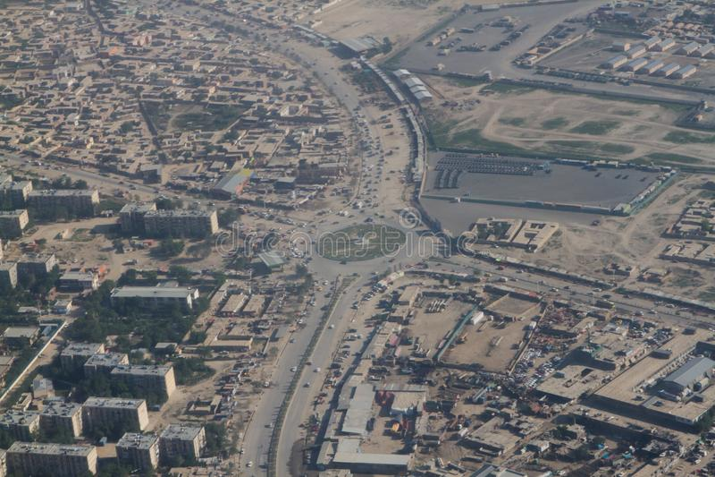 Μια άλλη πλευρά του τοπίου άποψης πόλεων του Καμπούλ, Αφγανιστάν στοκ εικόνες με δικαίωμα ελεύθερης χρήσης