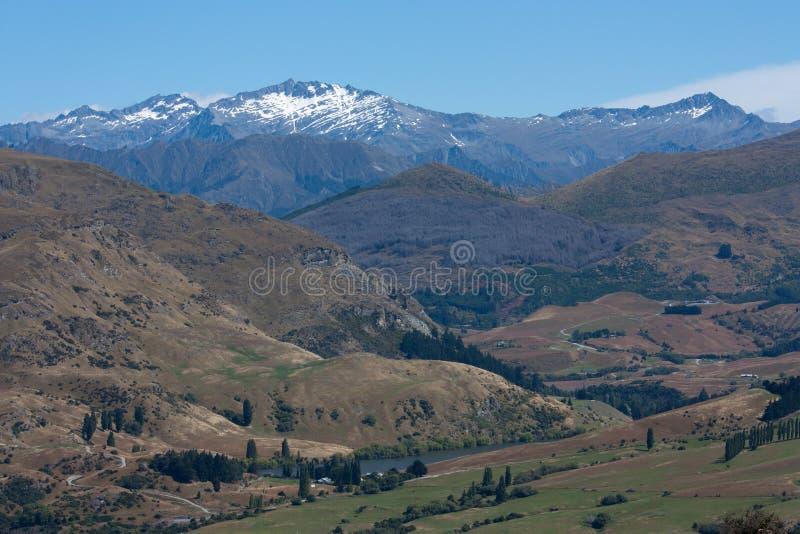 Μια άποψη από το Remarkables κοντά σε Queenstown στη Νέα Ζηλανδία στοκ φωτογραφία