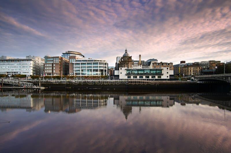 Μια άποψη από το tradeston πέρα από το clyde ποταμών στη Γλασκώβη, Σκωτία στοκ εικόνες με δικαίωμα ελεύθερης χρήσης
