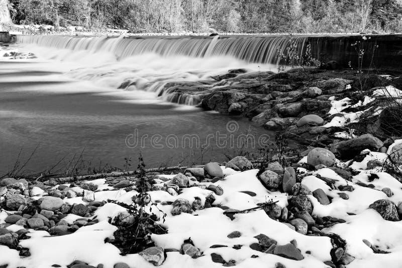 Μια άποψη ενός καταρράκτη ποταμών μεταξύ των πετρών στοκ εικόνες με δικαίωμα ελεύθερης χρήσης