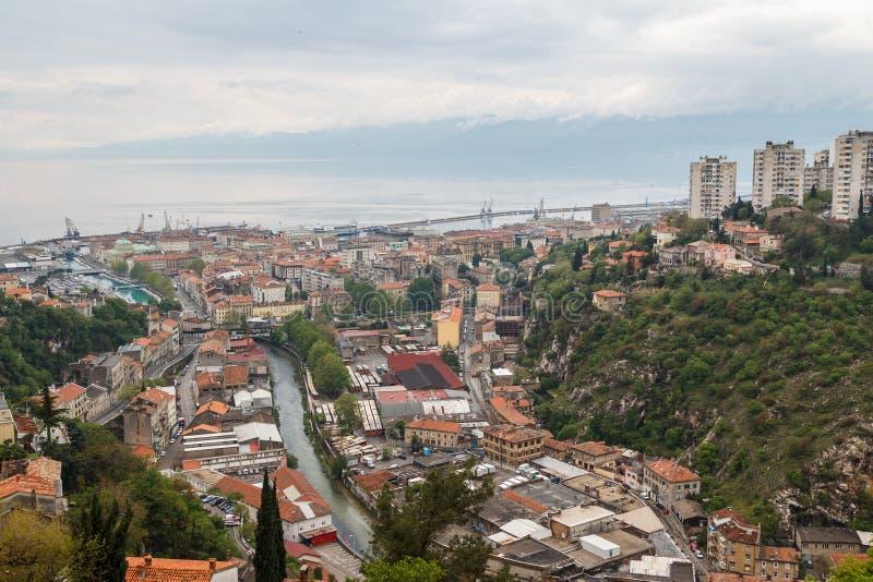 Μια άποψη πέρα από το Rijeka στοκ φωτογραφίες με δικαίωμα ελεύθερης χρήσης