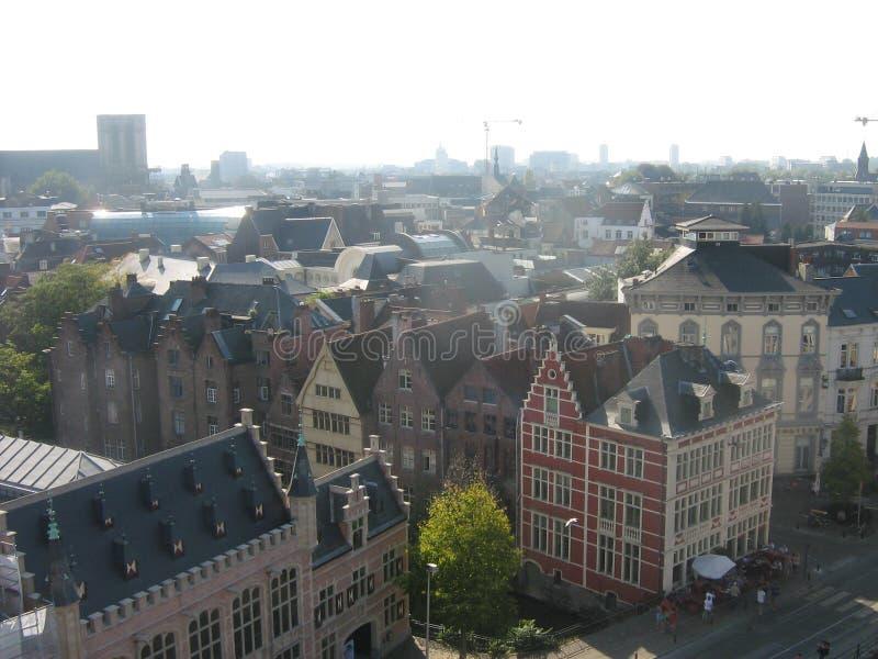 Μια άποψη πέρα από Gent στοκ φωτογραφίες