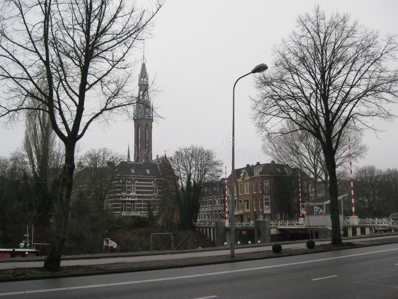 Μια άποψη προς το κέντρο του Γκρόνινγκεν, οι Κάτω Χώρες στοκ φωτογραφία