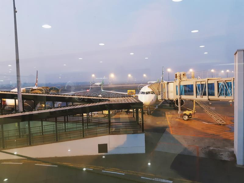 Μια άποψη στον αερολιμένα hatta Soekarno Ινδονησία Τζακάρτα στοκ φωτογραφία με δικαίωμα ελεύθερης χρήσης