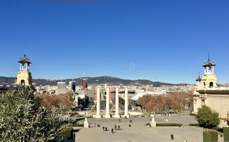 Μια άποψη της πόλης της Βαρκελώνης στοκ εικόνες με δικαίωμα ελεύθερης χρήσης