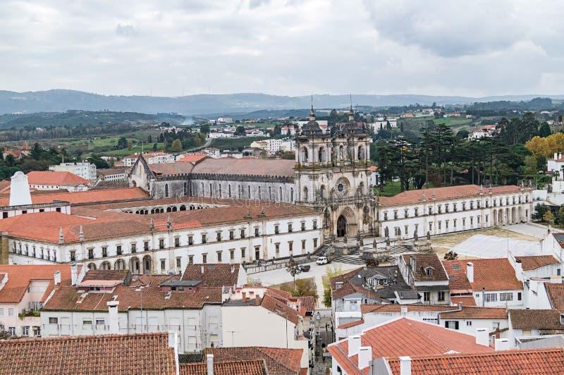 Μια άποψη του μοναστηριού Alcobaca, Πορτογαλία στοκ φωτογραφία