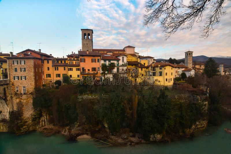 Μια άποψη Cividale del Friuli, Ιταλία στοκ εικόνα