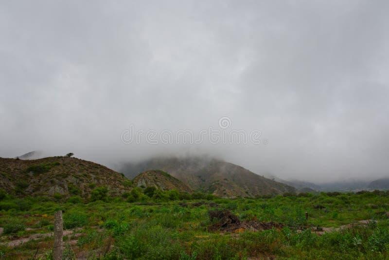 Μια άποψη Volcan, η πόλη ενός Salta στοκ εικόνα με δικαίωμα ελεύθερης χρήσης