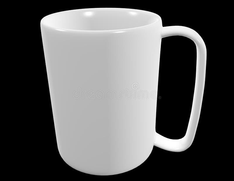 Μια άσπρη κούπα καφέ διανυσματική απεικόνιση