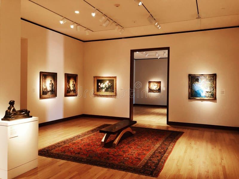 Μια έκθεση τέχνης μέσα στο μουσείο της Νέας Βρετανίας της αμερικανικής τέχνης στοκ εικόνα
