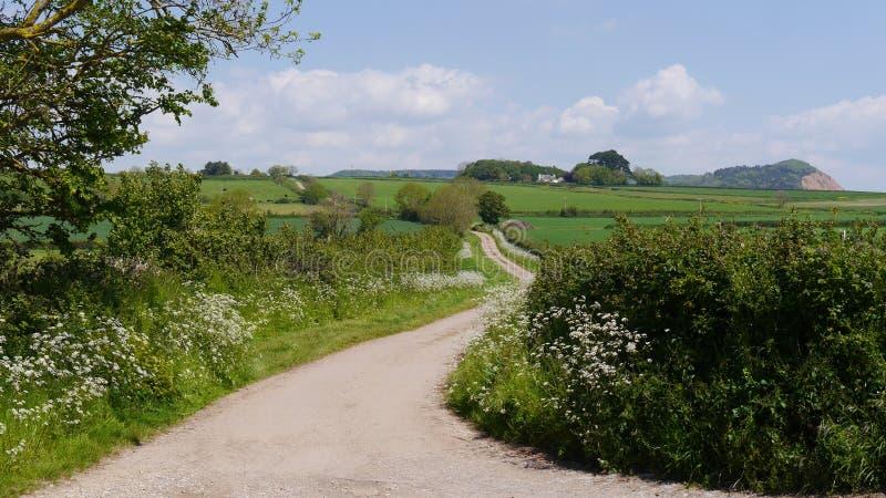 Μια αγροτική πάροδος χωρών στην Αγγλία στοκ εικόνες