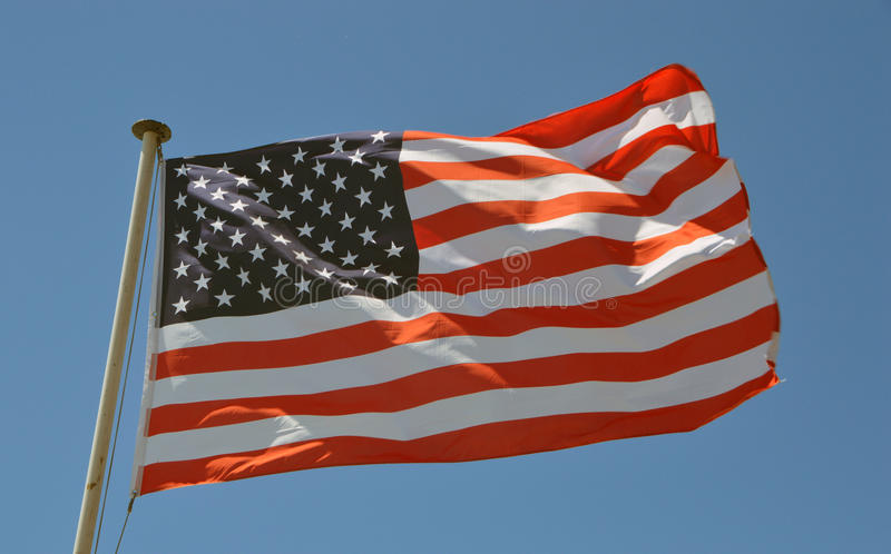 Μια ΑΜΕΡΙΚΑΝΙΚΗ σημαία στοκ εικόνες με δικαίωμα ελεύθερης χρήσης