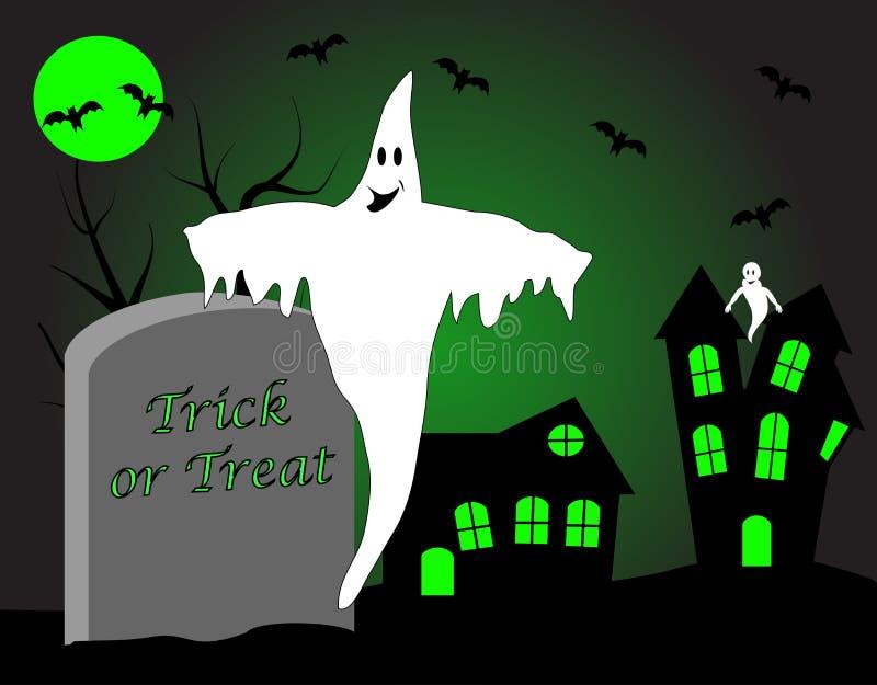 Μια απεικόνιση αποκριών με ένα φάντασμα στοκ φωτογραφία με δικαίωμα ελεύθερης χρήσης