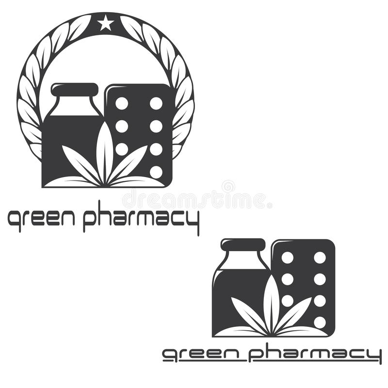 μια απεικόνιση που αποτελείται από δύο διαφορετικές εικόνες των βοτανικών φαρμάκων διανυσματική απεικόνιση