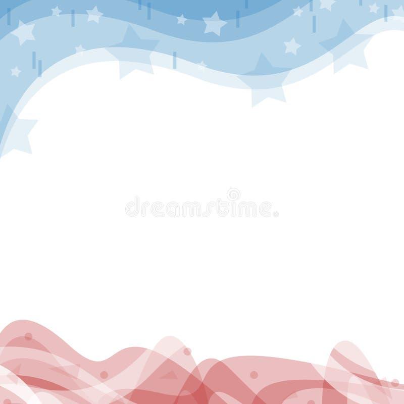 Μια απεικόνιση υποσημείωσης επιγραφών Ηνωμένο πατριωτικό υπόβαθρο στα χρώματα σημαιών απεικόνιση αποθεμάτων