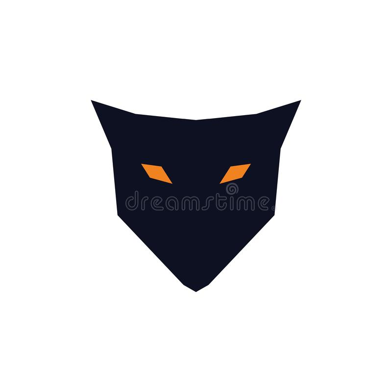 Μια απλή έννοια λογότυπων αλεπούδων διανυσματική απεικόνιση
