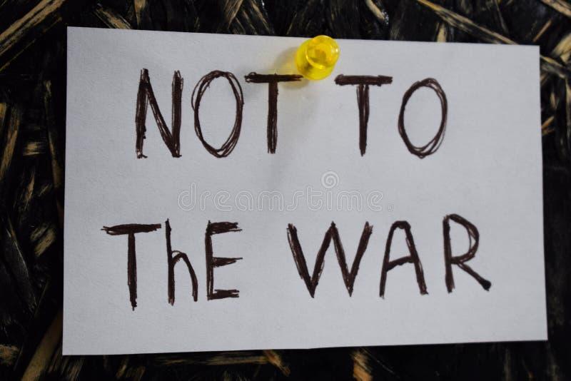 Μια απλή και κατανοητή επιγραφή, όχι στον πόλεμο στοκ εικόνες με δικαίωμα ελεύθερης χρήσης