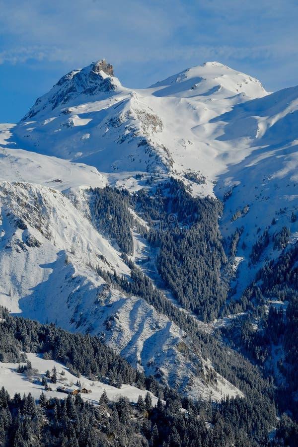 Μια απόμακρη αλπική σκηνή βουνών στοκ φωτογραφίες με δικαίωμα ελεύθερης χρήσης