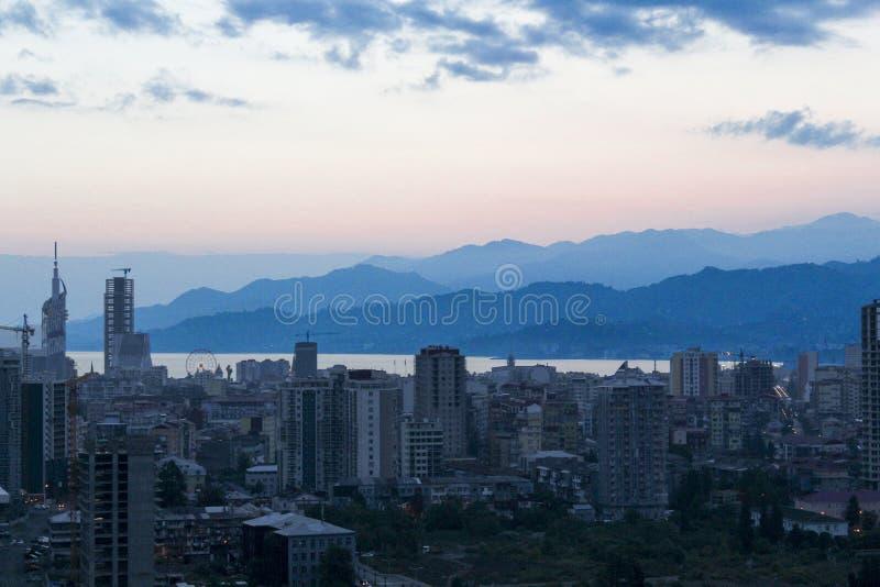 Μια αυγή colorfull σε Batum στοκ φωτογραφία