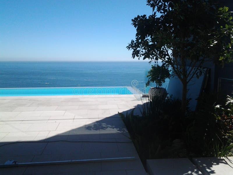 Μια αυξημένη άποψη έξω στη θάλασσα στοκ εικόνα