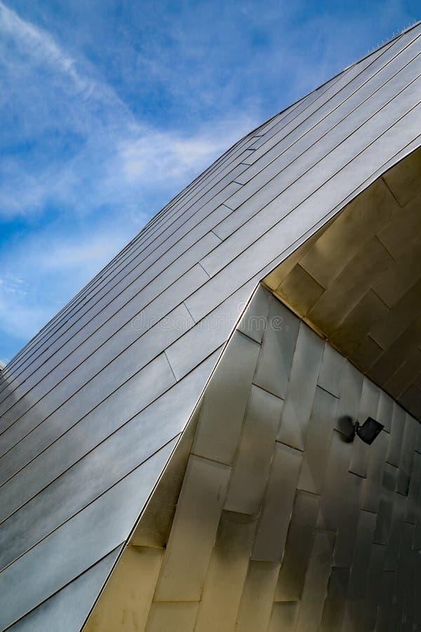 Μια αφηρημένη άποψη του κτηρίου Μουσείων Τέχνης Taubman στοκ εικόνες