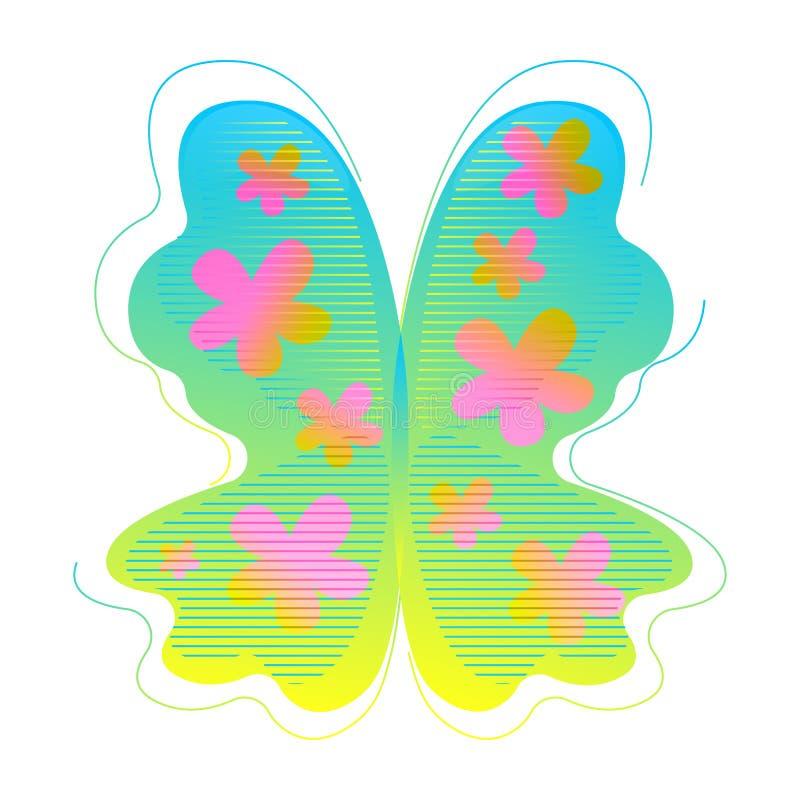 Μια αφηρημένη σύγχρονη μορφή πεταλούδων Αφηρημένη μορφή κλίσης με τα στοιχεία ρέοντας υγρού Γραφικός πόρος για απεικόνιση αποθεμάτων