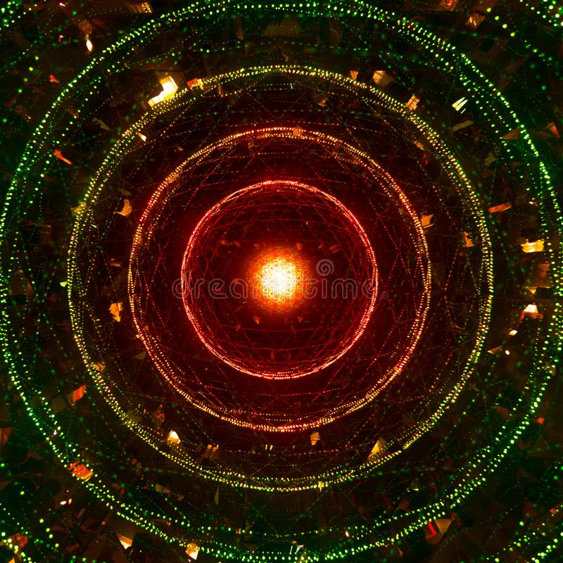 Μια αφηρημένη φωτογραφία των φωτεινών χρωματισμένων κύκλων στοκ φωτογραφίες με δικαίωμα ελεύθερης χρήσης