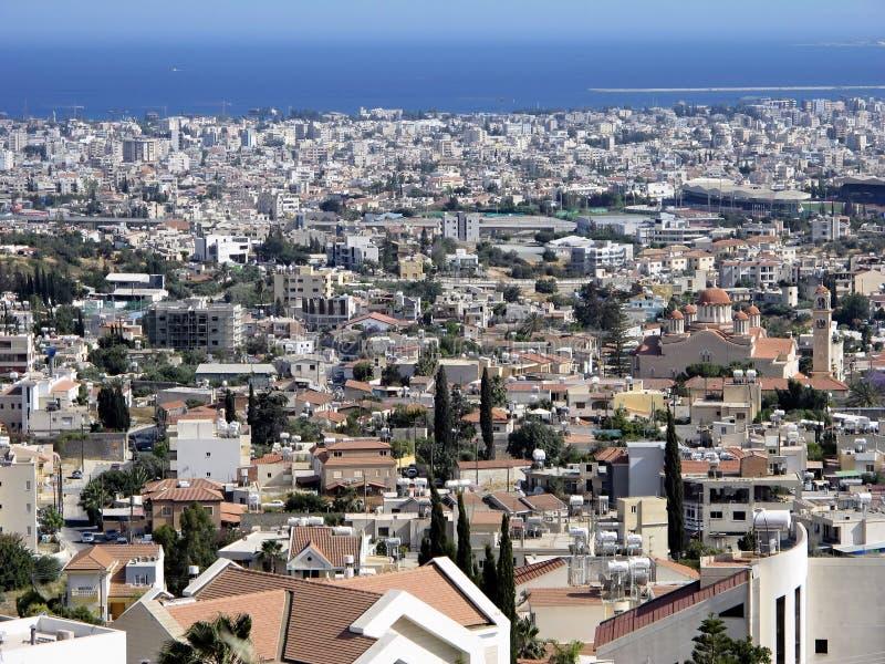Μια γενική άποψη της πόλης της Λεμεσού, Κύπρος στοκ φωτογραφίες