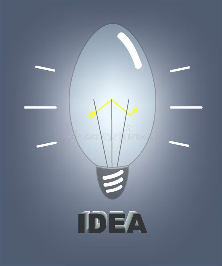 Μια γεννήτρια των ιδεών διανυσματική απεικόνιση