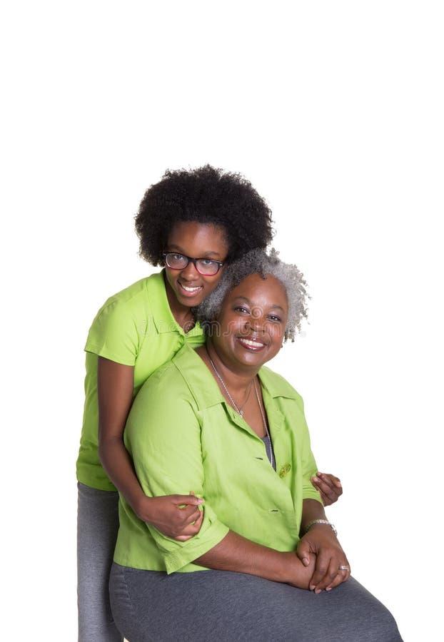 Μια γιαγιά και η εγγονή της στοκ εικόνες με δικαίωμα ελεύθερης χρήσης