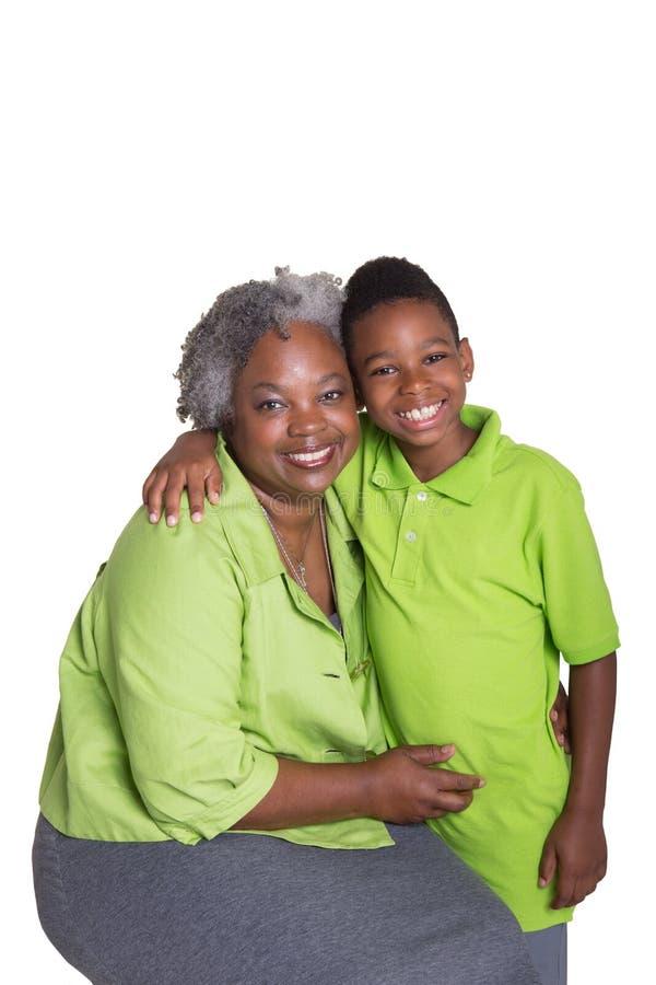 Μια γιαγιά και ο εγγονός της στοκ εικόνα με δικαίωμα ελεύθερης χρήσης