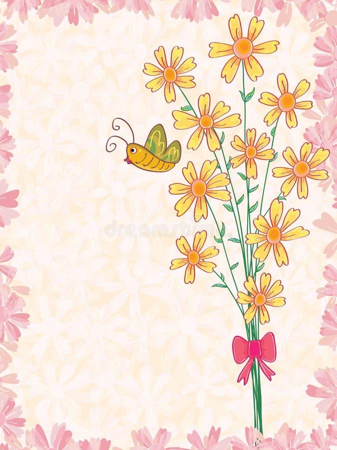 Μια δέσμη της πεταλούδας λουλουδιών απεικόνιση αποθεμάτων