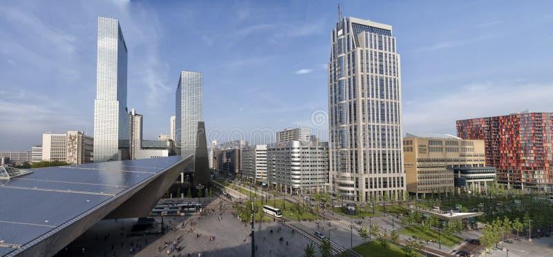 Μια εικονική παράσταση πόλης του Ρότερνταμ στοκ εικόνα με δικαίωμα ελεύθερης χρήσης