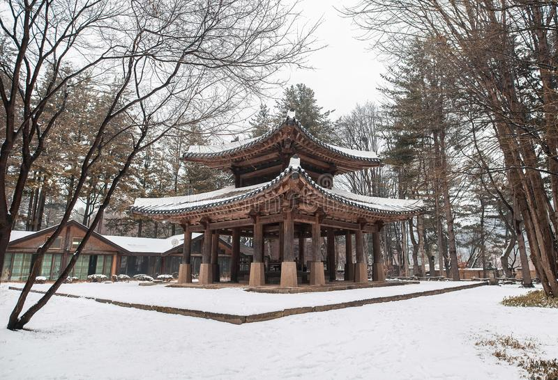 Μια εικόνα μιας κορεατικής παγόδας ύφους στοκ φωτογραφία με δικαίωμα ελεύθερης χρήσης