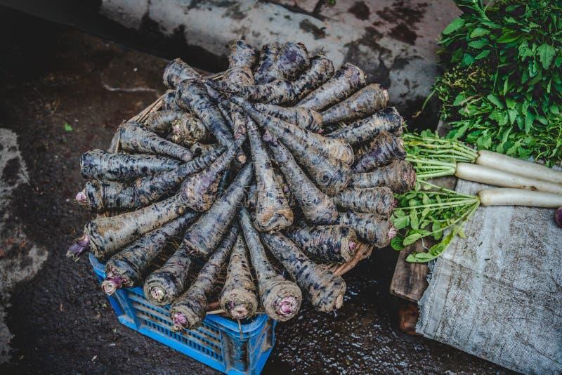Μια εικόνα των λαχανικών πώλησε στις οδούς του παλαιού Δελχί στοκ φωτογραφία με δικαίωμα ελεύθερης χρήσης