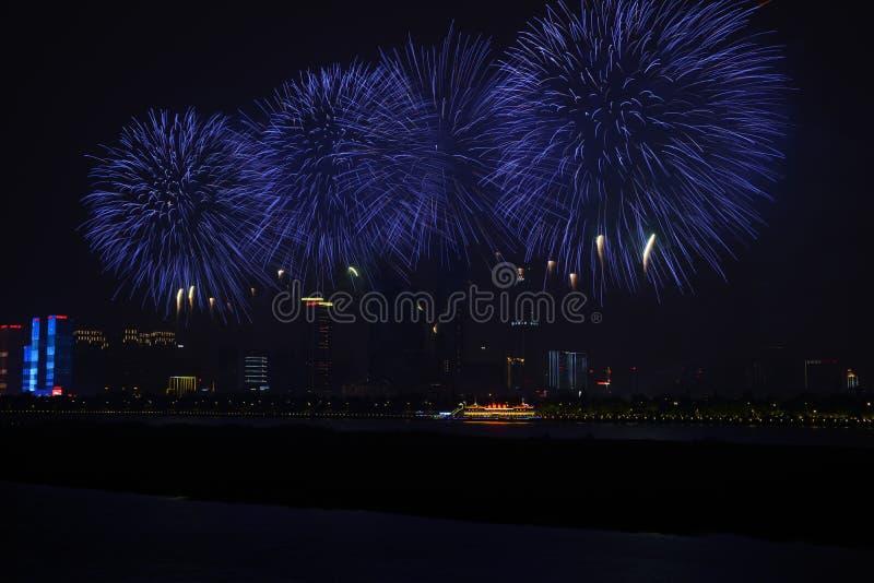 Μια εικόνα όμορφα πυροτεχνήματα Hunan Τσάνγκσα (Κίνα) στοκ εικόνα