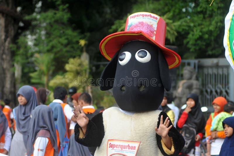 Μια εκστρατεία «που θυσιάζει» μπροστά από τον εορτασμό Eid Al-Adha στην Ινδονησία στοκ εικόνες με δικαίωμα ελεύθερης χρήσης