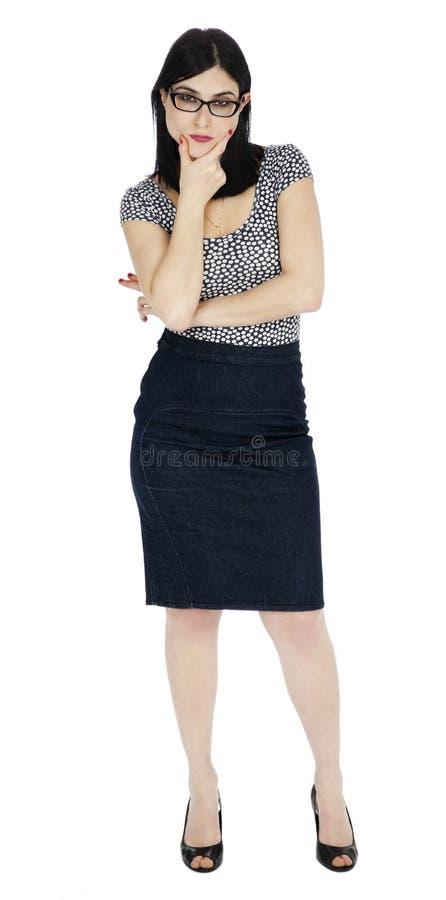 Απομονωμένη σκληρή γυναίκα στοκ εικόνες με δικαίωμα ελεύθερης χρήσης