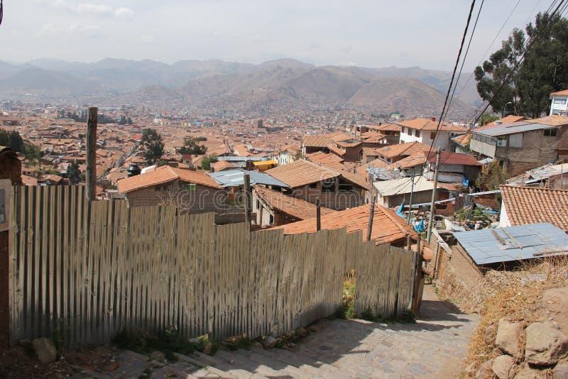 Μια εναέρια άποψη πέρα από Cuzco στοκ εικόνες με δικαίωμα ελεύθερης χρήσης