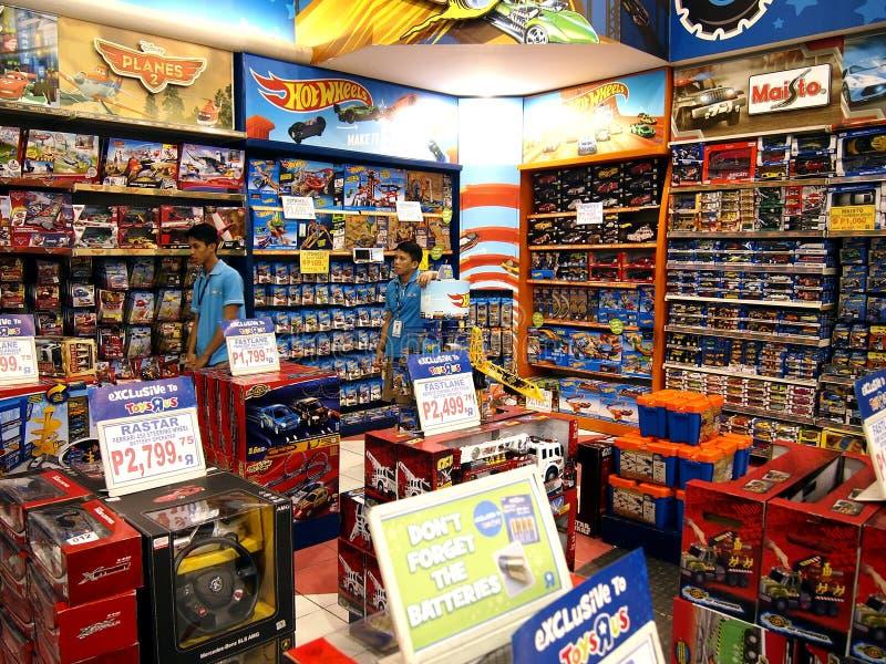 Μια ευρεία ποικιλία των παιχνιδιών στην επίδειξη στα παιχνίδια Ρ εμείς μέσα στο Robinson ` s Galleria στο Quezon City στοκ φωτογραφία