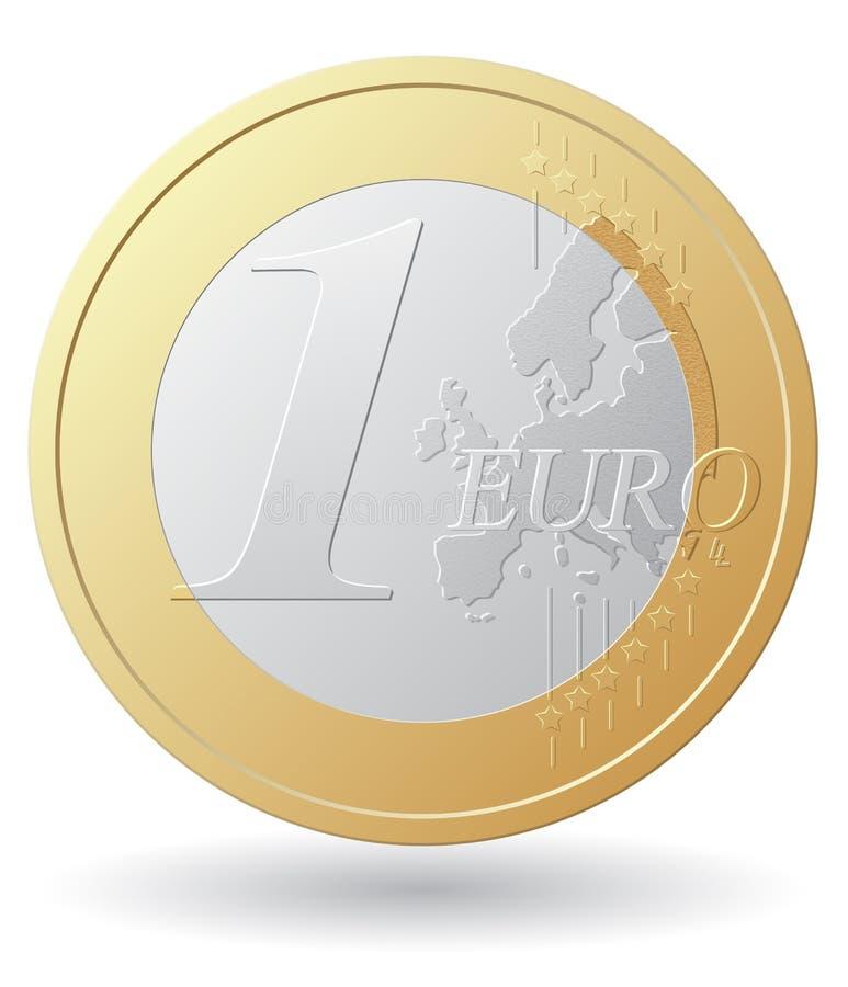 Μια ευρο- διανυσματική απεικόνιση νομισμάτων διανυσματική απεικόνιση