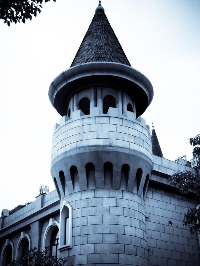 Μια ευρωπαϊκή αρχιτεκτονική στη Σαγκάη στοκ εικόνες