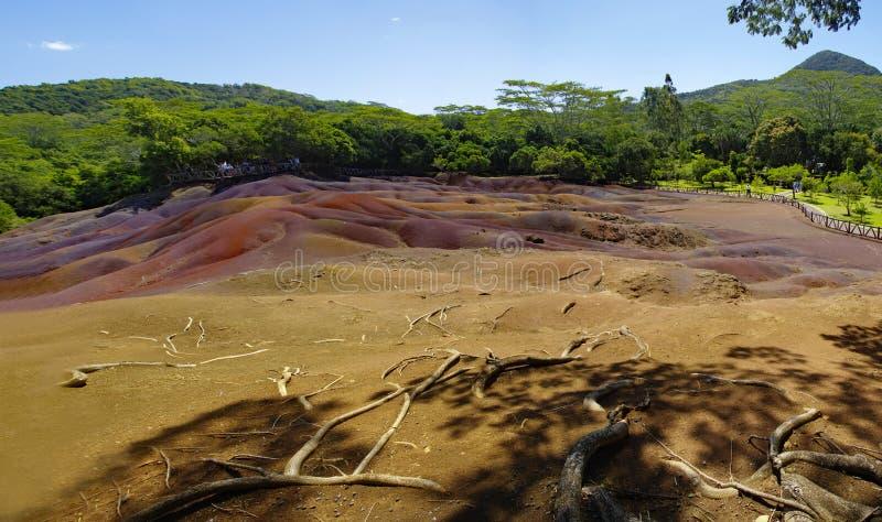 Μια ηλιόλουστη ημέρα στο πάρκο chamarel-επτά-χρώματος, Μαυρίκιος στοκ φωτογραφία