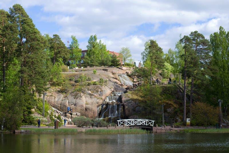 Μια ημέρα Ιουνίου στο πάρκο τοπίων Sapokka όψη sapokka βράχου πάρκων τοπίων kotka της Φινλανδίας πόλεων στοκ φωτογραφία