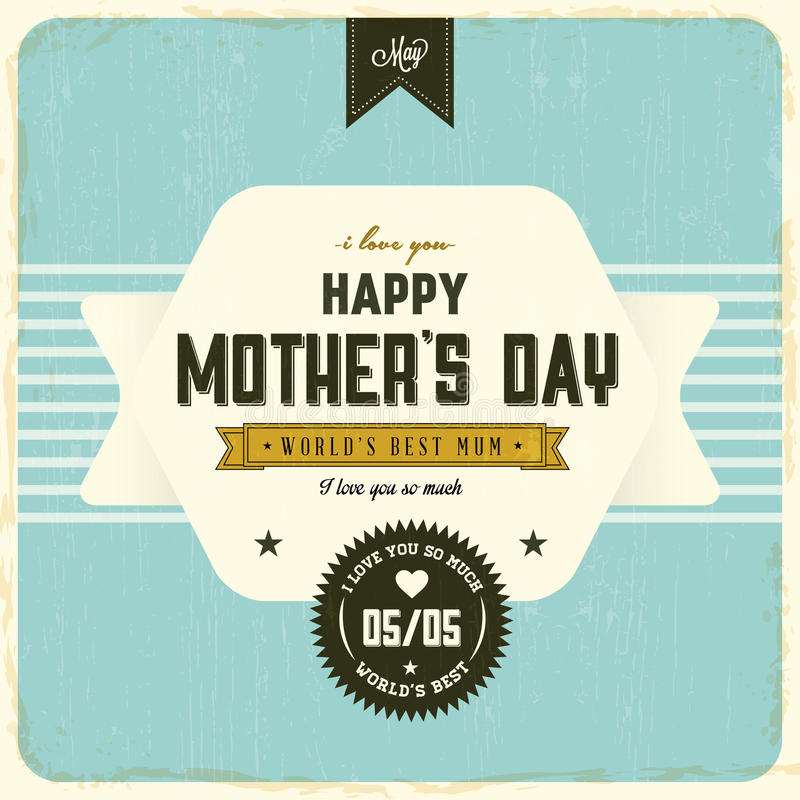 Ευτυχής ημέρα μητέρων διανυσματική απεικόνιση