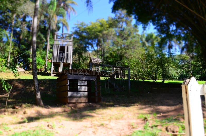 Μια θέση για το τοπικό hacienda χαλάρωσης, δίπλα στην πόλη Ribeirao Preto, περιοχή Minas Gerais στοκ φωτογραφία με δικαίωμα ελεύθερης χρήσης