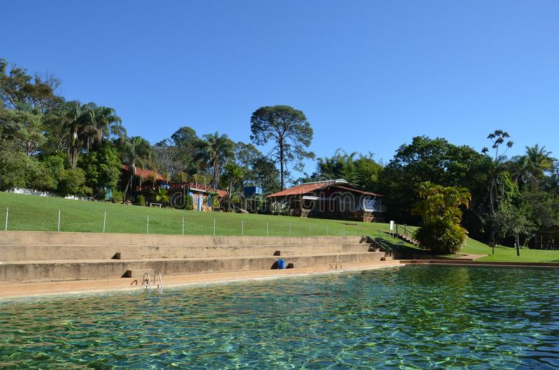 Μια θέση για το τοπικό hacienda χαλάρωσης, δίπλα στην πόλη Ribeirao Preto, περιοχή Minas Gerais στοκ φωτογραφίες