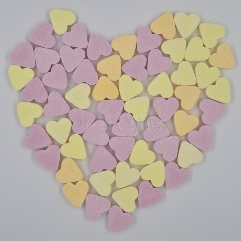 Μια καρδιά των καρδιών καραμελών στοκ εικόνα