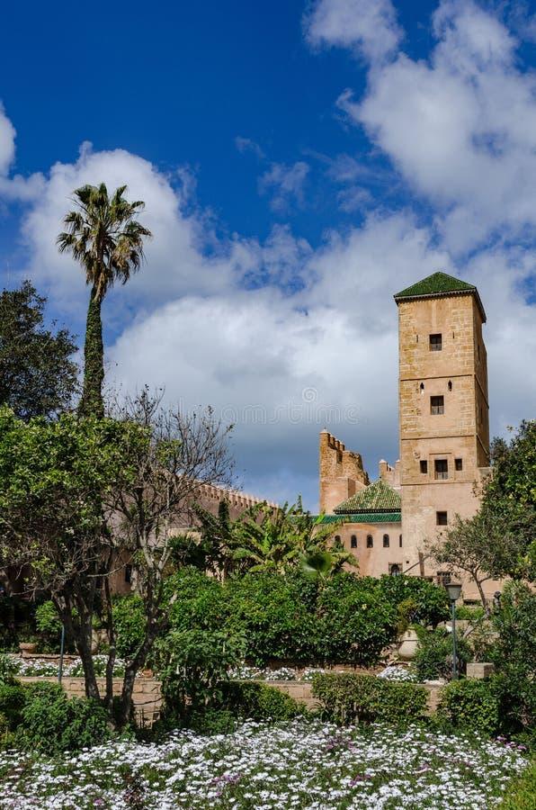 Μια καταπληκτική πόλη στο Μαρόκο, Rabat, Kasbah des Oudaia στοκ εικόνες